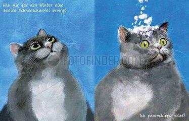 CAToon 34  Cartoon mit Katzen zum Thema parship