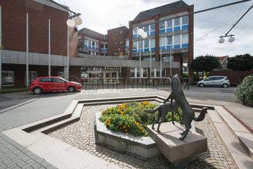 Schwarzenbek. Ortskern von Schwarzenbek mit dem Rathaus.