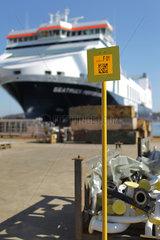 Flensburg  Deutschland  Logistik mit Hilfe des QR-Codes bei der Flensburger Schiffbaugesellschaft