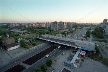 Die Bauruine einer Bruecke in Kaliningrad  Russland