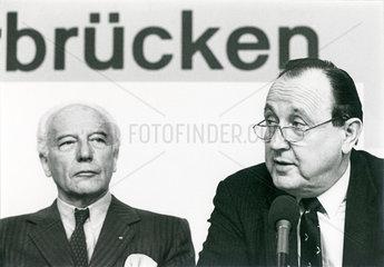 Walter Scheel  Hans-Dietrich Genscher  FDP-Parteitag  1985