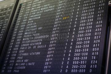 Flight board information display