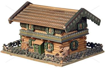altes bayerisches Bauernhaus  Holzhaus  Modell