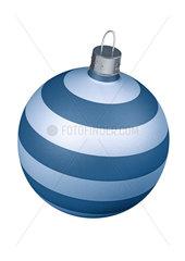 striped christmas ball ornament - gestreifte Christbaumkugel
