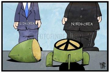 Sued- und Nordkorea wollen Kriegszustand beenden