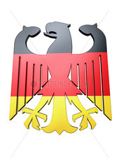 Federal Eagle of Germany with the Colours of the Flag