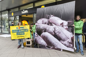 Greenpeace-Protest bei Lidl