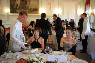 Sankt Petersburg  Russland  Montblanc White Nights Festival im Palast von Peterhof