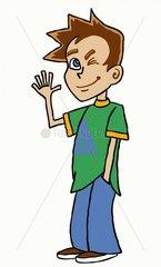 Serie Teenager Figurentwicklung braunhaariger Junge