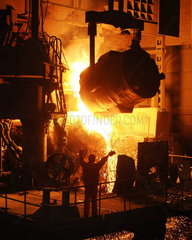 China  Stahlwerk in Dalian  Liaoning Provinz