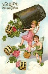 Viel Glueck im Neuen Jahr  Neujahrskarte  Oesterreich  1913