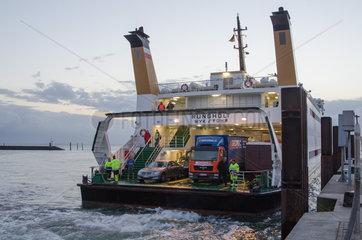 Wyk  Deutschland  Faehre im Hafen von Wyk auf der Insel Foehr