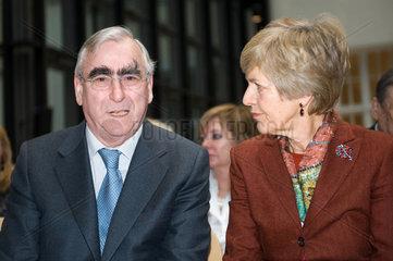 Berlin  Deutschland  Friede Springer und Theodor Waigel