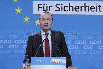 Konrad Adenauer Haus - Gemeinsame Sitzung des Bundesvorstandes der CDU und CSU und dem gemeinsamen EVP-Spitzenkandidaten zu den Europawahlen