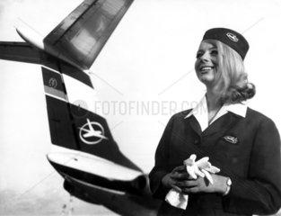 Berlin  DDR  Flugbegleiterin der Interflug