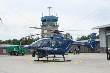 Bad Bramstedt  Deutschland  Polizeihelikopter Eurocopter EC 135