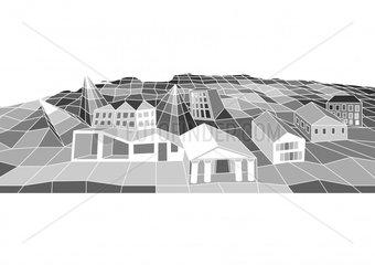 Stadt city village grau grey