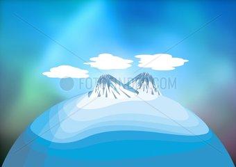 Arktis Landschaft Klimawandel landscape climate change melting arctic ice