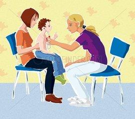 Besuch bei der Kinderaerztin