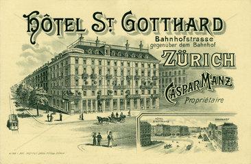 Hotel St. Gotthard  Zuerich  1900