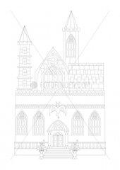 Burg Schloss castle fortress gotisch gothic outline