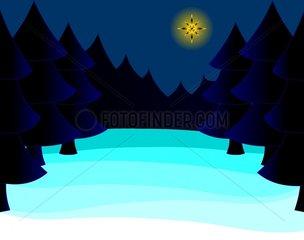 Winternacht Winter Night Weihnachtsnacht Christmas Eve