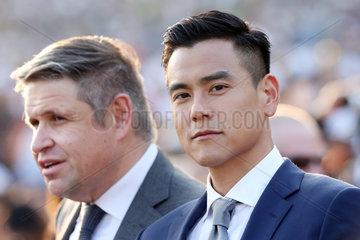 Hongkong  China  Portrait of actor Eddie Peng (right) and Juan-Carlos Capelli