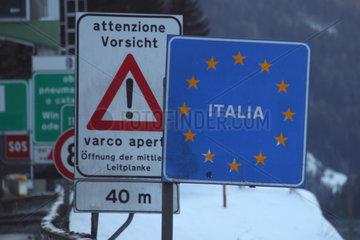 Gries am Brenner  Oesterreich  Grenzuebergang nach Italien am Brennerpass