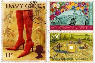 Internationale bunte Briefmarken