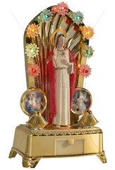 Christus im Lichterkranz  Plastik  Souvenir  1975