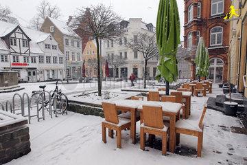 Flensburg  Deutschland  Flensburg im Winter