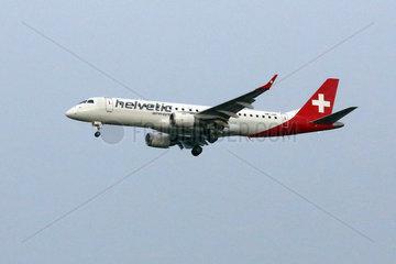 Hannover  Deutschland  Embraer ERJ-190LR der Fluggesellschaft Helvetic Airways