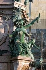 Leipzig  Mendebrunnen vor dem Gewandhaus am Augustusplatz