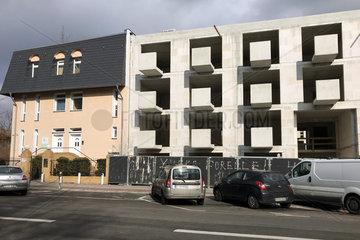 Berlin  Deutschland  Rohbau eines Mehrfamilienhauses in der Friedrich-Karl-Strasse