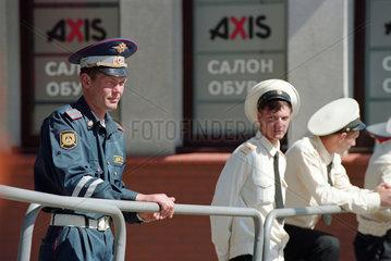 Russischer Verkehrspolizist  Kaliningrad  Russland