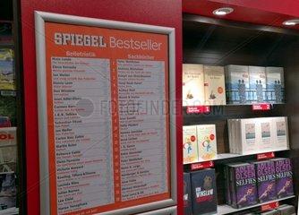 Spiegel -Bestsellerliste in einer Buchhandlung