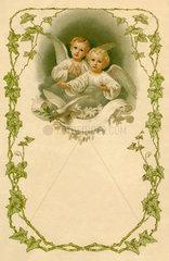 Briefbogen zu Weihnachten  Engel  1904