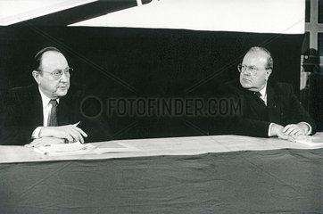 Hans Dietrich Genscher  Martin Bangemann  FDP  Bundesminister  1986