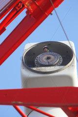 Juebek  Deutschland  alte Windkraftanlage wird durch modernere ersetzt