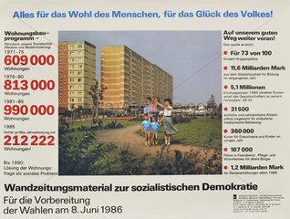 Wahlwerbung DDR-Wohnungsbau  Volkskammerwahl 1986