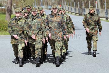 Ploen  Deutschland  Rekruten der Bundeswehr an der der Marineunteroffizierschule