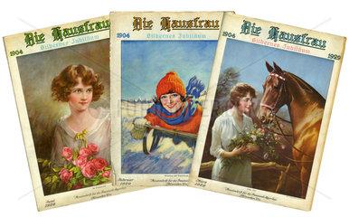 deutschsprachige Monatsmagazine Die Hausfrau  USA 1929