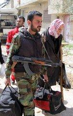 SYRIA-DAMASCUS-CIVILIANS-EVACUATION-EASTERN GHOUTA