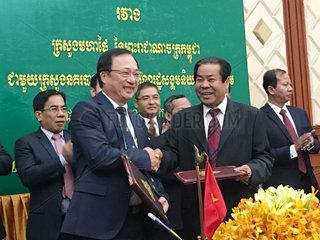CAMBODIA-PHNOM PENH-VIETNAM-COOPERATION