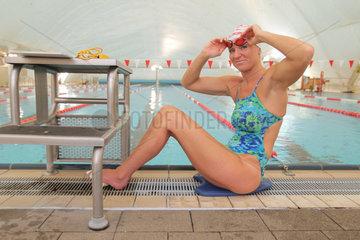 Neumuenster  Deutschland  Schwimmerin Kirsten Bruhn