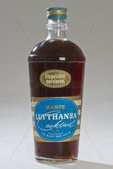 Mampe Lufthansa Cocktail  alte originale Flasche  1960