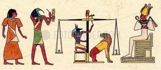 Altes Aegypten Totengericht