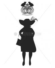 Queen mit Krone und Froeschen