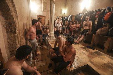 MIDEAST-GAZA CITY-TURKISH STEAM BATH-HAMAM AL-SAMRA