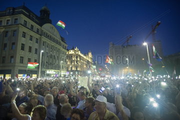 Demonstration der Opposition in Budapest